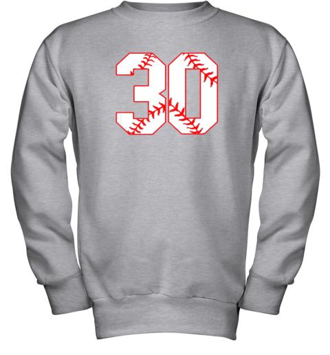 g99j thirtieth birthday party 30th baseball shirt born 1989 youth sweatshirt 47 front sport grey