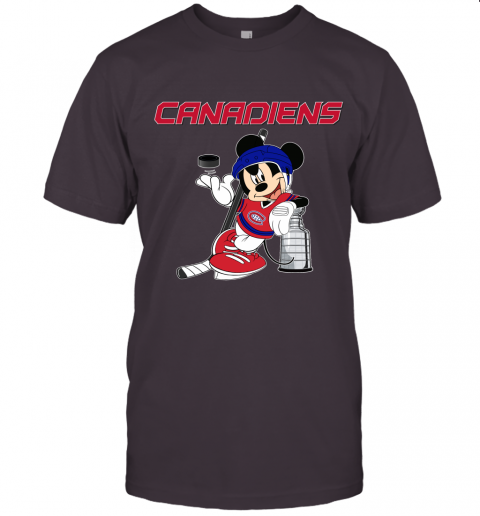 Mickey Montreal Canadiens With The Stanley Cup Hockey NHL Unisex Jersey Tee