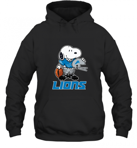 Snoopy A Strong And Proud Detroit Lions Player NFL Hoodie