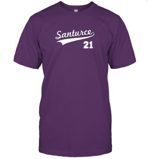 tbft vintage santurce 21 puerto rico baseball jersey t shirt 60 front team purple