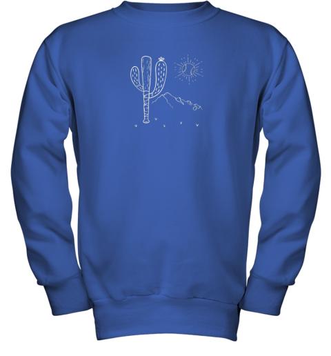 cxex cactus baseball bat image shirt for america39 s pastime fan youth sweatshirt 47 front royal