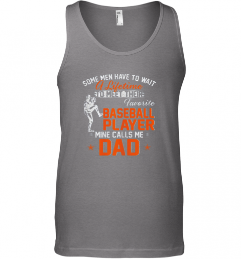 nsmt my favorite baseball player calls me dad funny father39 s day gift unisex tank 17 front graphite heather