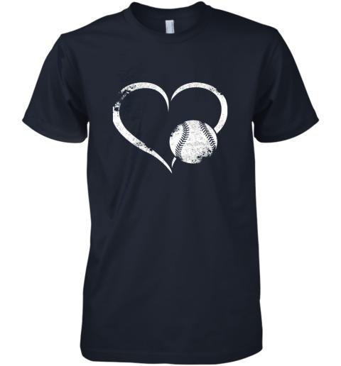 x8y1 i love baseballl funny baseball lover heartbeat premium guys tee 5 front midnight navy
