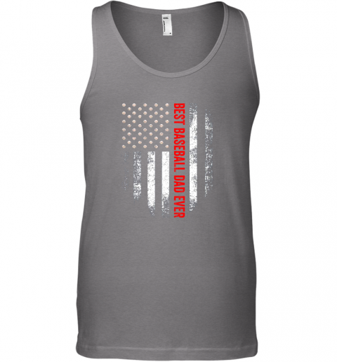 mnwd vintage usa best baseball dad ever american flag daddy gift unisex tank 17 front graphite heather