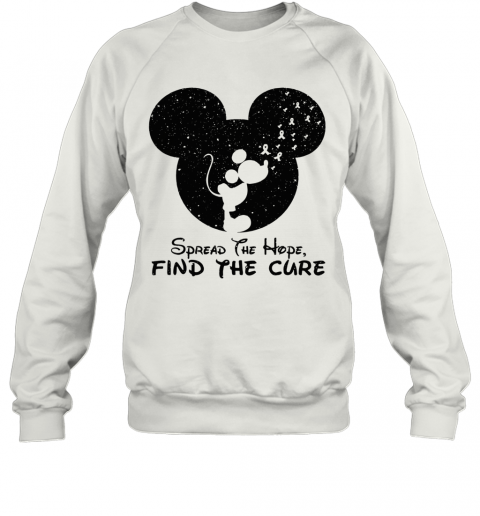 Spread The Hope Find The Cure Breast Cancer Awareness Mickey Mouse Sweatshirt