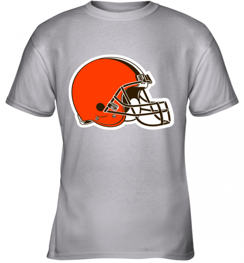 iozq cleveland browns nfl pro line by fanatics branded brown victory youth t shirt 26 front sport grey