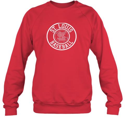 vwqu vintage st louis baseball missouri cardinal badge gift sweatshirt 35 front red