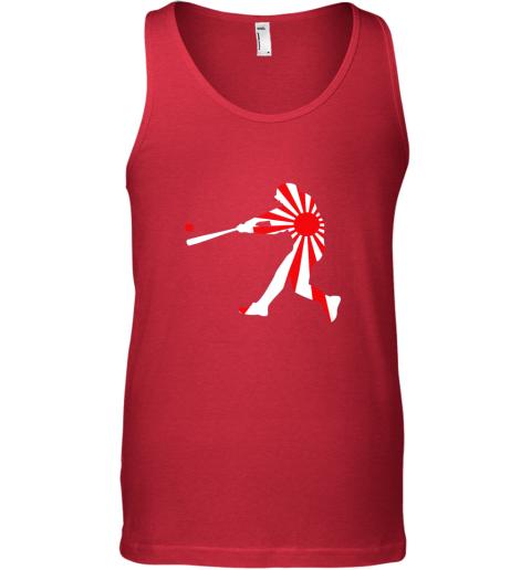 slqe japan baseball shirt jpn batter classic nippon flag jersey unisex tank 17 front red