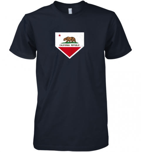 irmy vintage baseball home plate with california state flag premium guys tee 5 front midnight navy
