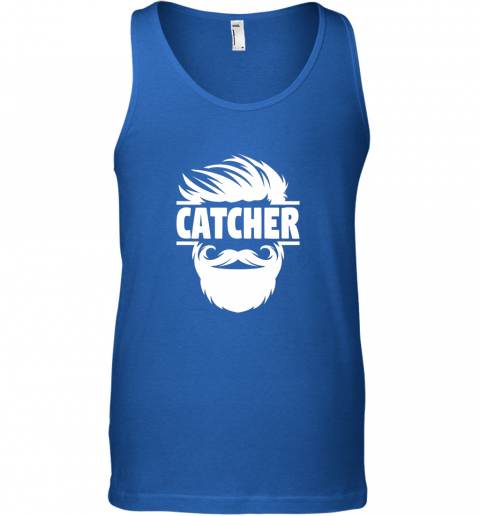 y8to bearded baseball catcher unisex tank 17 front royal