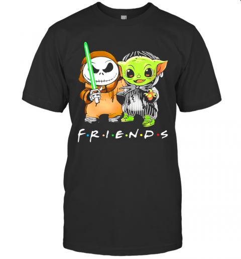 Friends With Baby Yoda And Jack Skelington T-Shirt