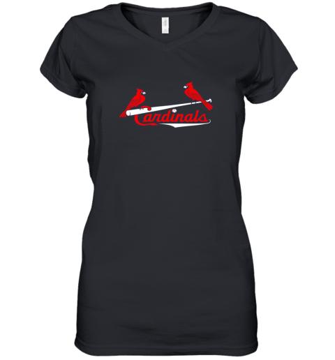 Cardinal Sports Shirt  St Louis Baseball Fan Women's V-Neck T-Shirt