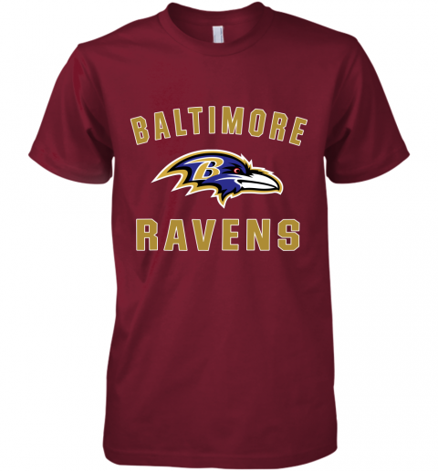 bns3 mens baltimore ravens nfl pro line by fanatics branded gray victory arch t shirt premium guys tee 5 front cardinal