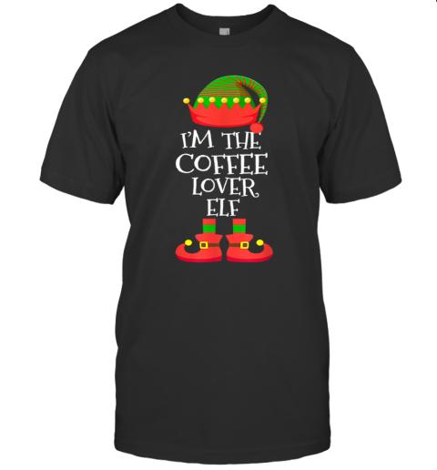 'M THE Coffee Lover ELF Christmas Xmas Elf Group Costume T-Shirt