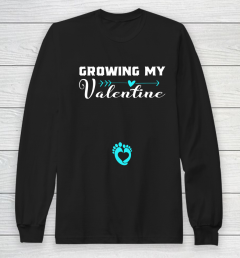 Cute Growing my Valentine Gift for Women pregnancy Long Sleeve T-Shirt