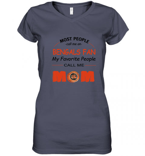 7ex8 most people call me cincinnati bengals fan football mom women v neck t shirt 39 front heather navy