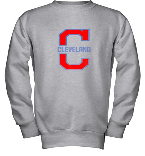 dsjo cleveland hometown indian tribe vintage youth sweatshirt 47 front sport grey