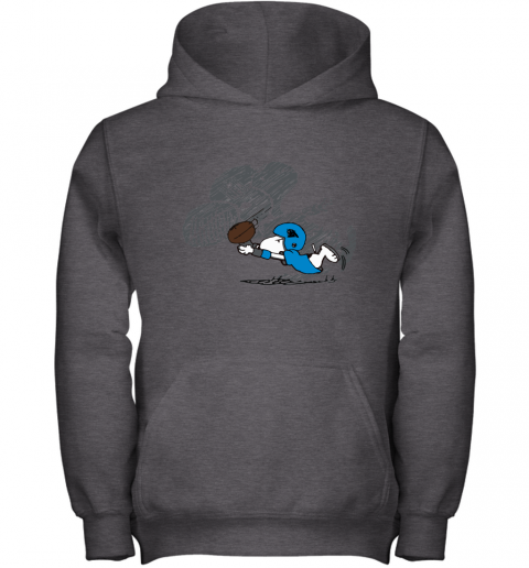 Carolina Panthers Snoopy Plays The Football Game Youth Hoodie