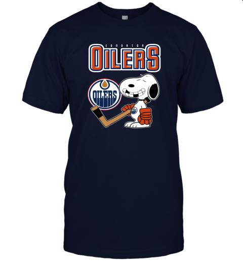 vmpn edmonton oilers ice hockey broken teeth snoopy nhl shirt jersey t shirt 60 front navy