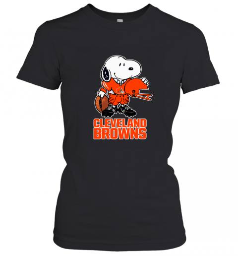 Snoopy A Strong And Proud Cleveland Browns NFL Women's T-Shirt