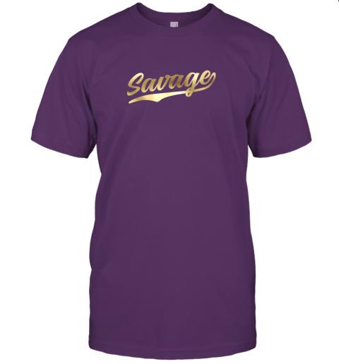 rj8n savage shirt retro 1970s baseball script font jersey t shirt 60 front team purple