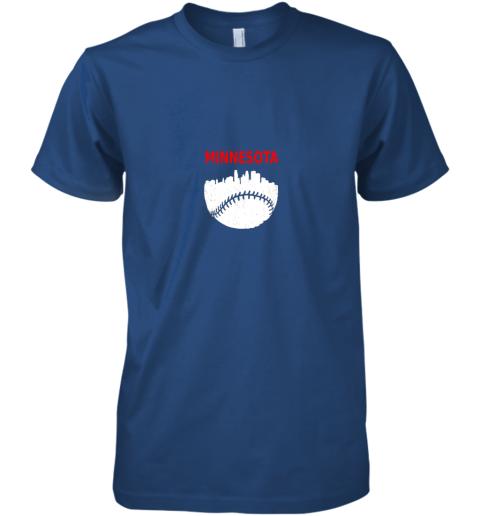 qkt0 retro minnesota baseball minneapolis cityscape vintage shirt premium guys tee 5 front royal