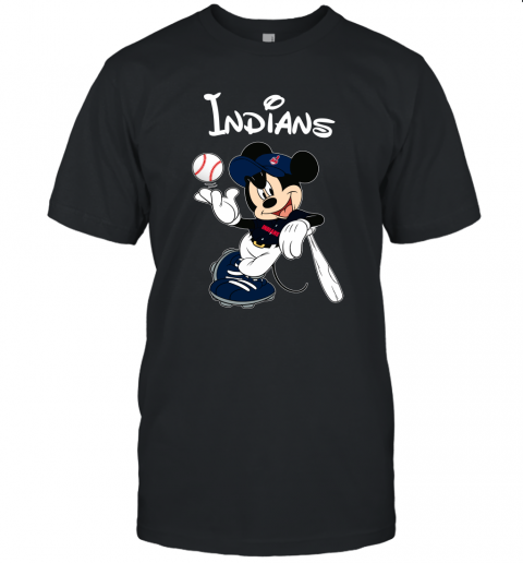 Baseball Mickey Team Cleveland Indians Unisex Jersey Tee