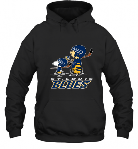 sxpm lets play st louis blues ice hockey snoopy nhl shirt hoodie 23 front black