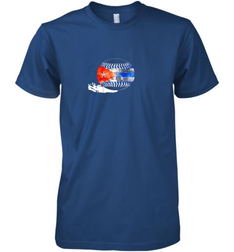 pqup vintage baseball cuba flag shirt cuban pride premium guys tee 5 front royal