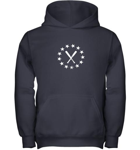 25vb baseball with bats shirt baseballin player gear gifts youth hoodie 43 front navy