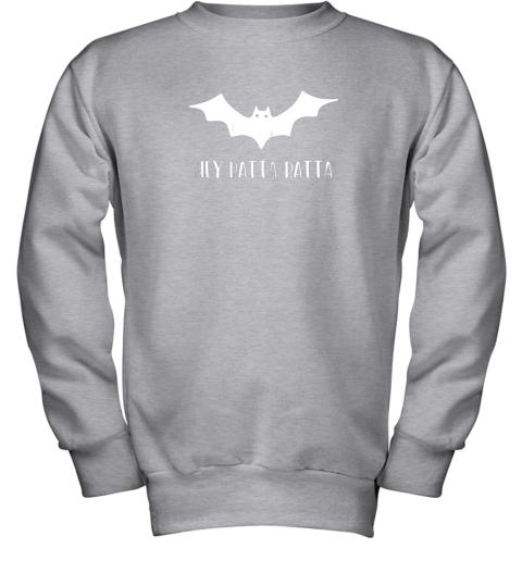 5wl3 halloween bat shirt funny baseball lover hey batta gift youth sweatshirt 47 front sport grey