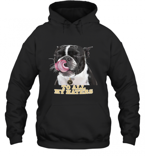 New Orleans Saints To All My Haters Dog Licking Hoodie