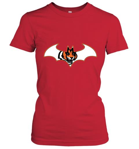 9lnv we are the cincinnati bengals batman nfl mashup ladies t shirt 20 front red