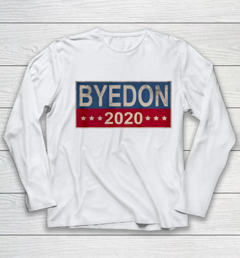 Bye Don 2020 ByeDon Button Joe Biden Funny Anti Trump Youth Long Sleeve