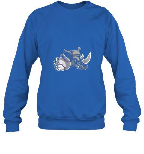 qexm rhino baseball ball sports mascot sweatshirt 35 front royal