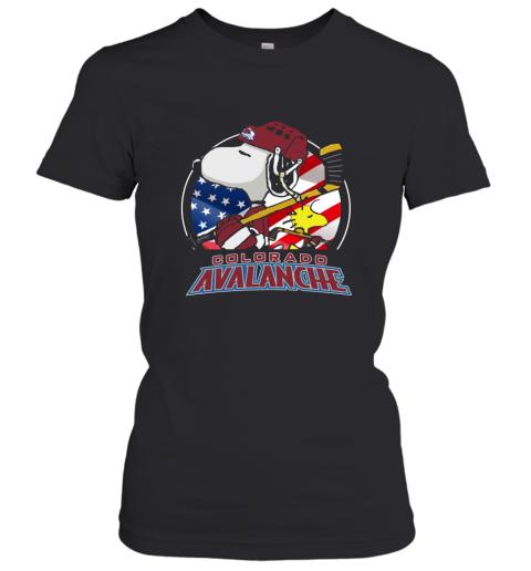 Colorado Avalanche Ice Hockey Snoopy And Woodstock NHL Women's T-Shirt