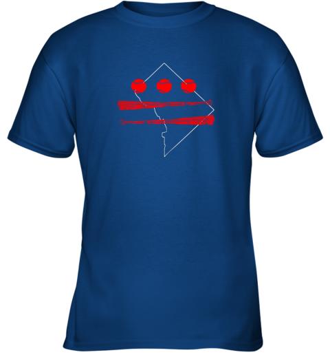 jjxo washington dc map capitol baseball flag youth t shirt 26 front royal
