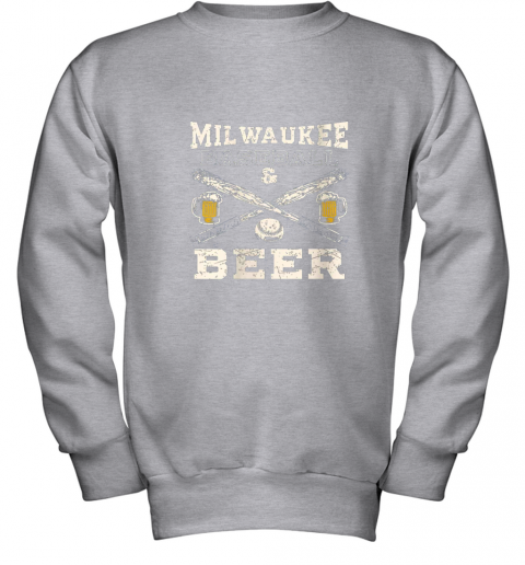b7vl love milwaukee love baseball youth sweatshirt 47 front sport grey