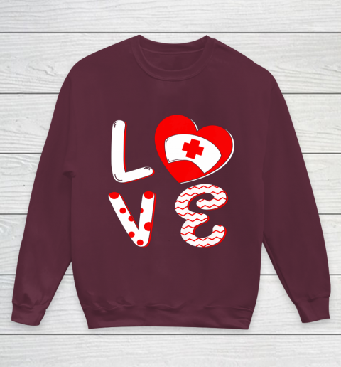 Medical Nurse Valentine Day Shirt Love Matching Youth Sweatshirt 4