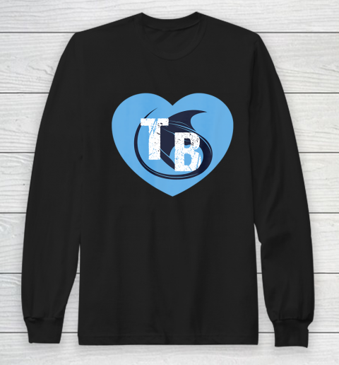 Stingray Love Tampa Bay Vintage TB Cool Tampa Bay Heart Long Sleeve T-Shirt