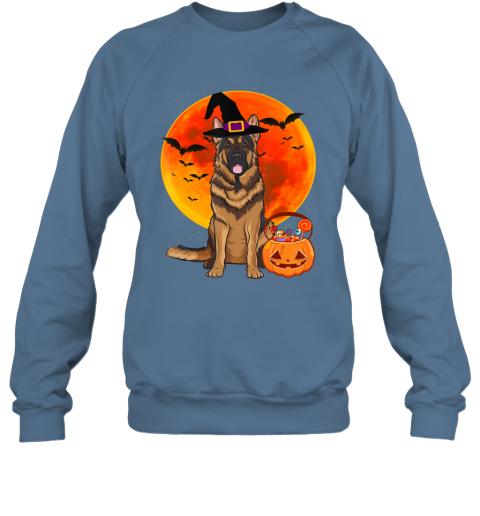 Dog Halloween German Shepherd Jack O Lantern Pumpkin Sweatshirt
