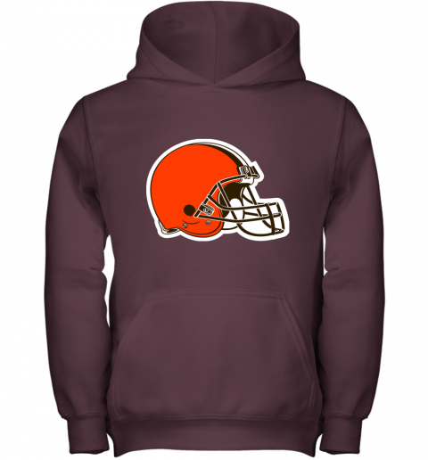 3qw3 cleveland browns nfl pro line by fanatics branded brown victory youth hoodie 43 front maroon