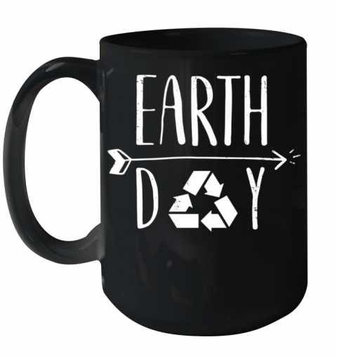 Earth Day 50Th Anniversary Cute Vintage Recycling Ceramic Mug 15oz