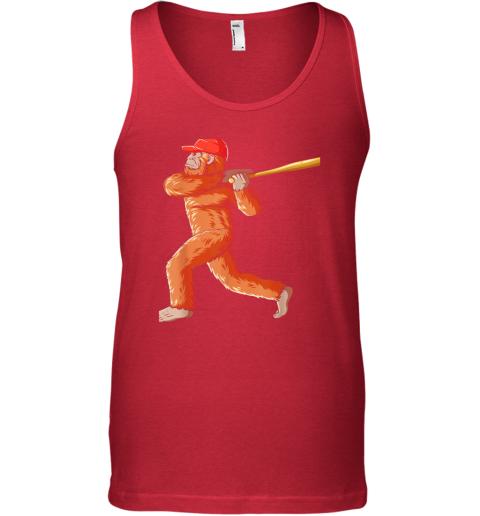 nui4 bigfoot baseball sasquatch playing baseball player unisex tank 17 front red