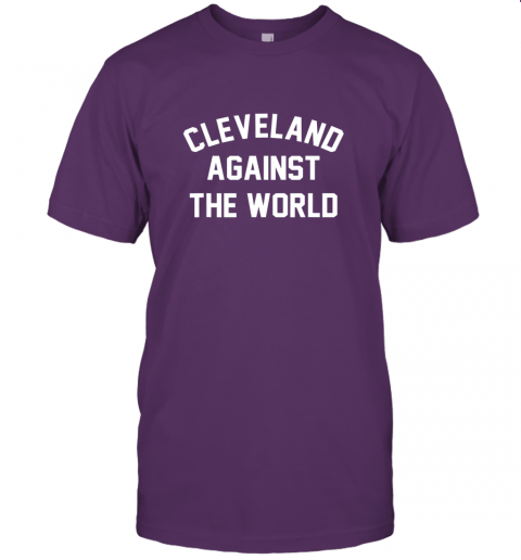 k3xs cleveland against the world football baseball basketball jersey t shirt 60 front team purple