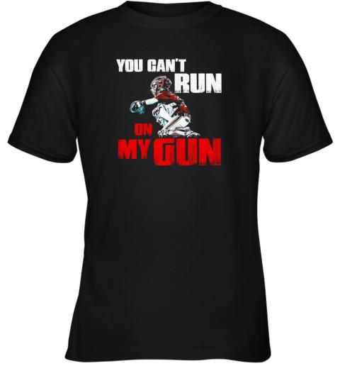 You Cant Run On My Gun Shirt Baseball Youth T-Shirt