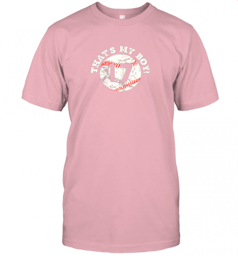 s45y that39 s my boy 17 baseball player mom or dad gift jersey t shirt 60 front pink