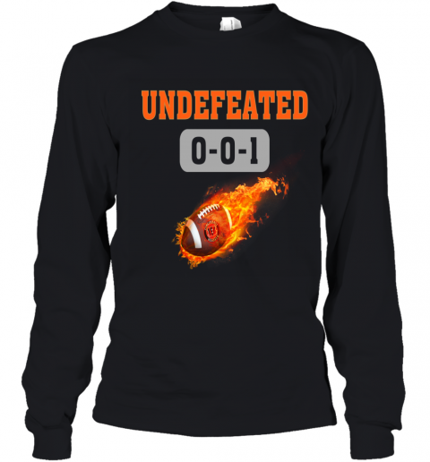 NFL CINCINNATI BENGALS LOGO Undefeated Youth Long Sleeve T-Shirt