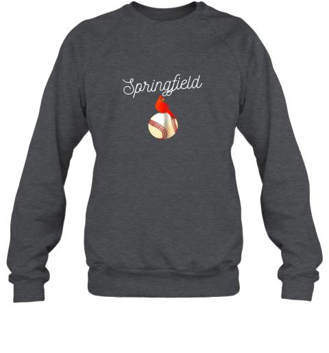 r8pt springfield red cardinal shirt for baseball lovers sweatshirt 35 front dark heather