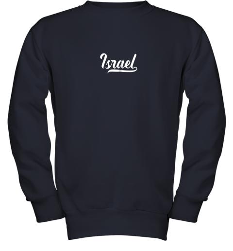 2bge israel baseball national team fan cool jewish sport youth sweatshirt 47 front navy